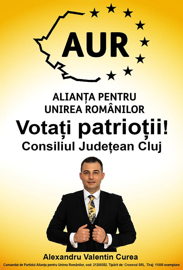 """În politica românească este prea mult """"eu"""" și prea puțin """"noi"""" – Alexandru Valentin Curea, candidat AUR la consiliul județean Cluj"""