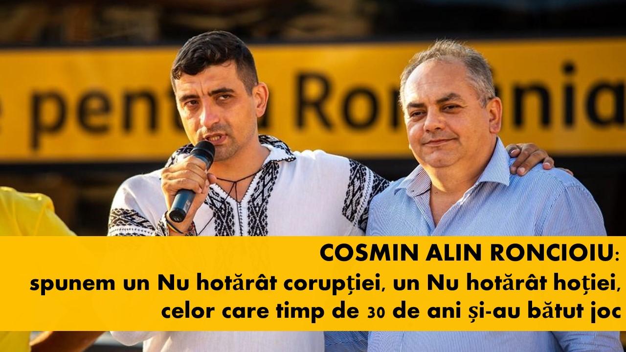 Cosmin Roncioiu (AUR Hunedoara): spunem un Nu hotărât corupției, un Nu hotărât hoției