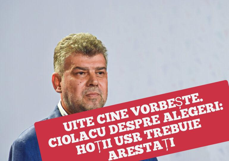 Ce borfaș e Ciolacu: hoții de la USR trebuie arestați