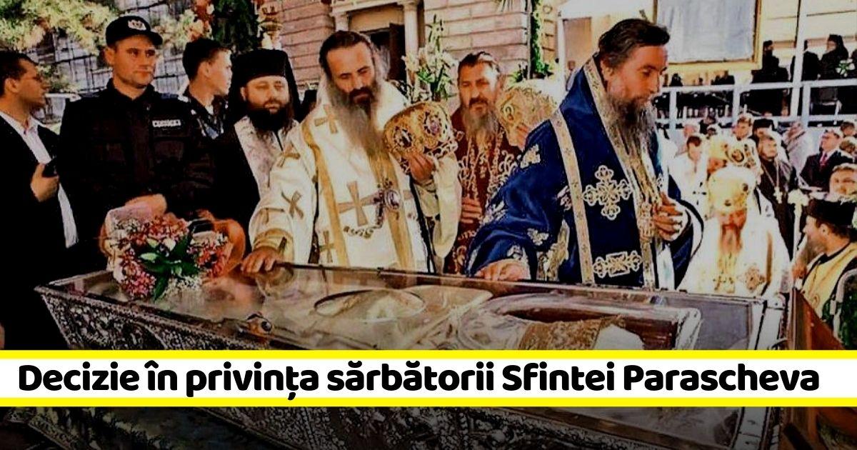 Decizie radicală: Se RENUNȚĂ la organizarea sărbătorii Sfintei Cuvioase Parascheva ca în ceilalți ani
