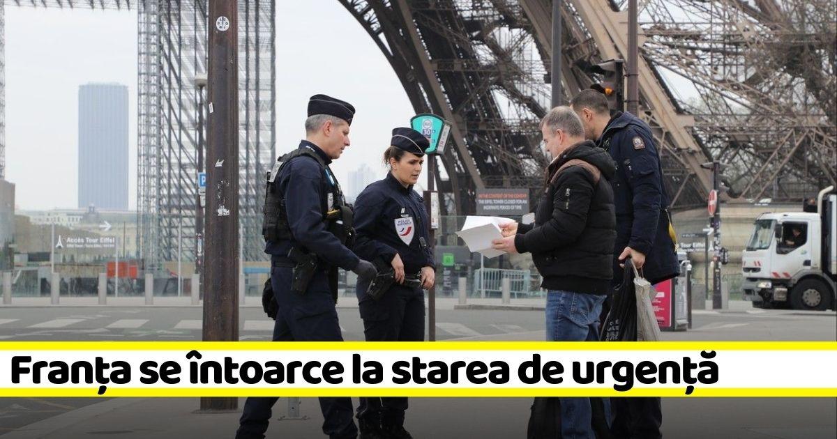 ULTIMA ORĂ: Franța anunță reinstituirea stării de urgenţă!