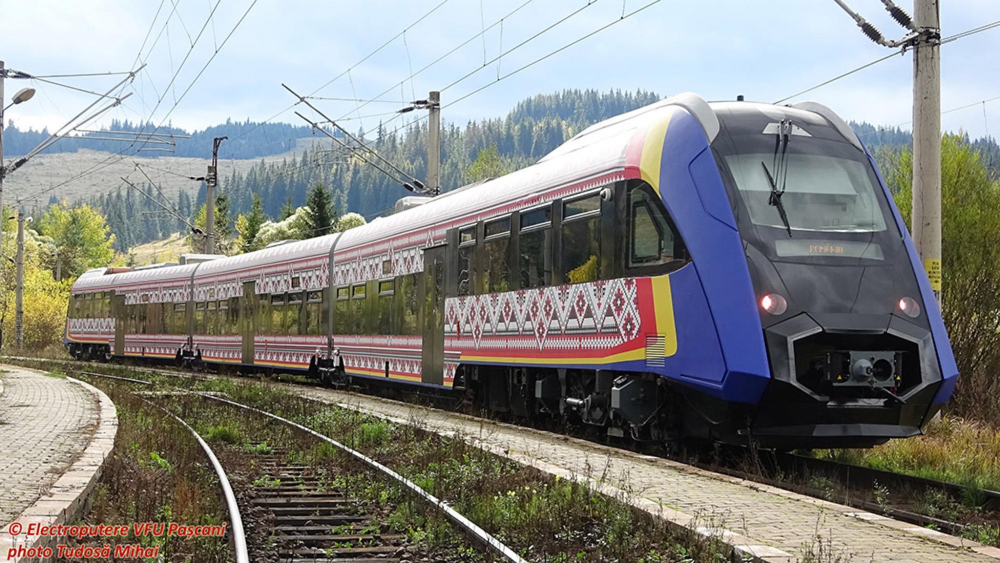 Tren nou romanesc testat pe zona Mestecanis Automotorul va iesi in curand pe piata