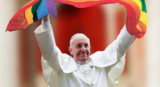 """Papa Francisc va fi """"omul anului"""" pentru comunitatea LGBT:  """"Homosexualii au dreptul la o familie. Sunt în favoarea uniunilor civile"""""""