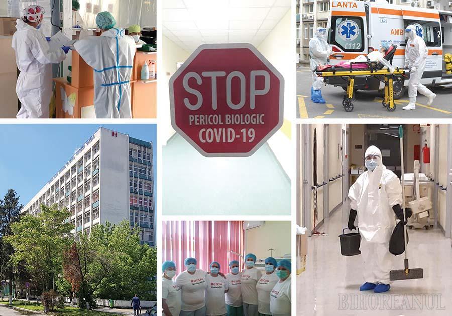 Cod roşu de Covid: Spitalul Municipal din Oradea s-a umplut de pacienți, personalul medical e rărit de infectări (FOTO)