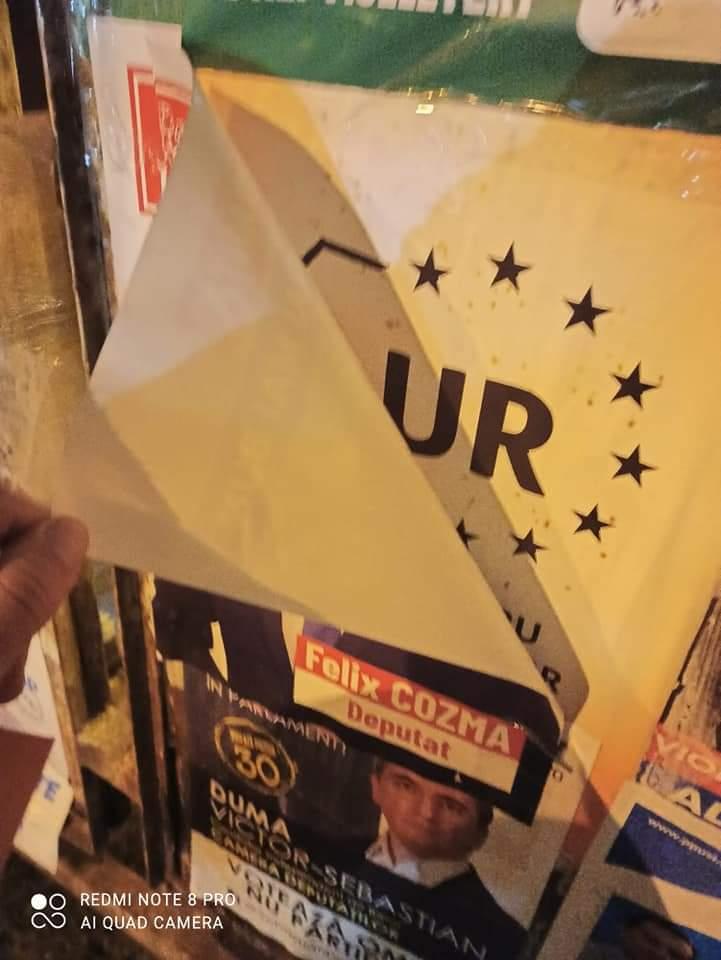 Disperare: PSD, PNL au dat comandă să se vandalizeze afișele AUR