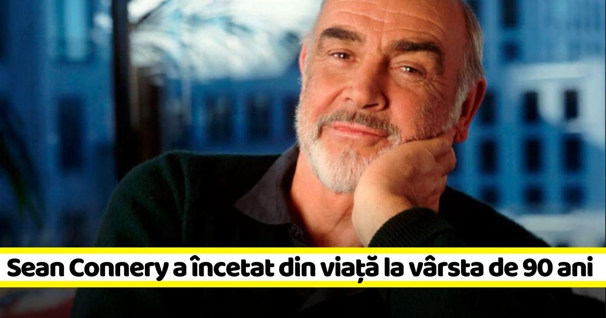 Celebrul actor Sean Connery a murit astăzi, la vârsta de 90 de ani