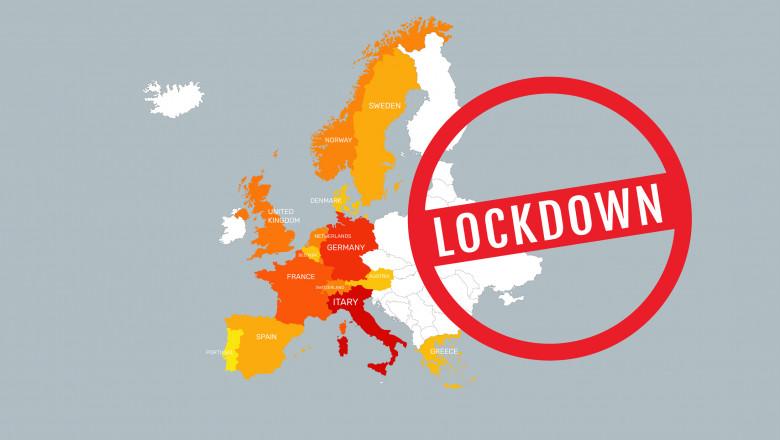 Lockdown, cel mai folosit și de temut cuvânt în Europa. Tabloul celor mai dure restricții în condițiile celor mai dramatice bilanțuri