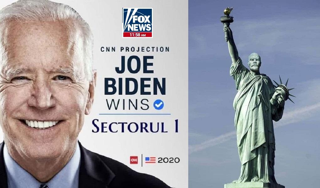 """SUA: Lovitură de stat a mass-media. Joe Biden, proclamat președinte de moguli de Ziua Revoluției Bolșevice. Patronii FOX NEWS, CNN, NBC și AP """"l-au lucrat"""" pe Donald Trump. Replica președintelui: Voturile vor decide"""