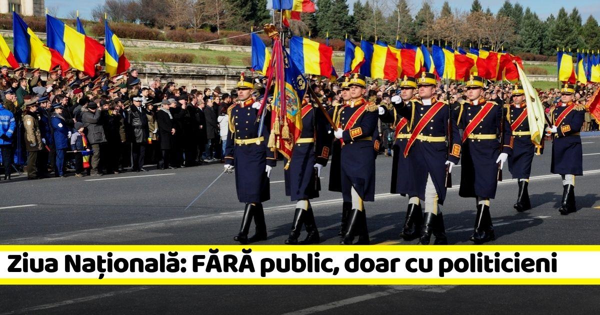 Ziua Națională: fără public, doar oficialități