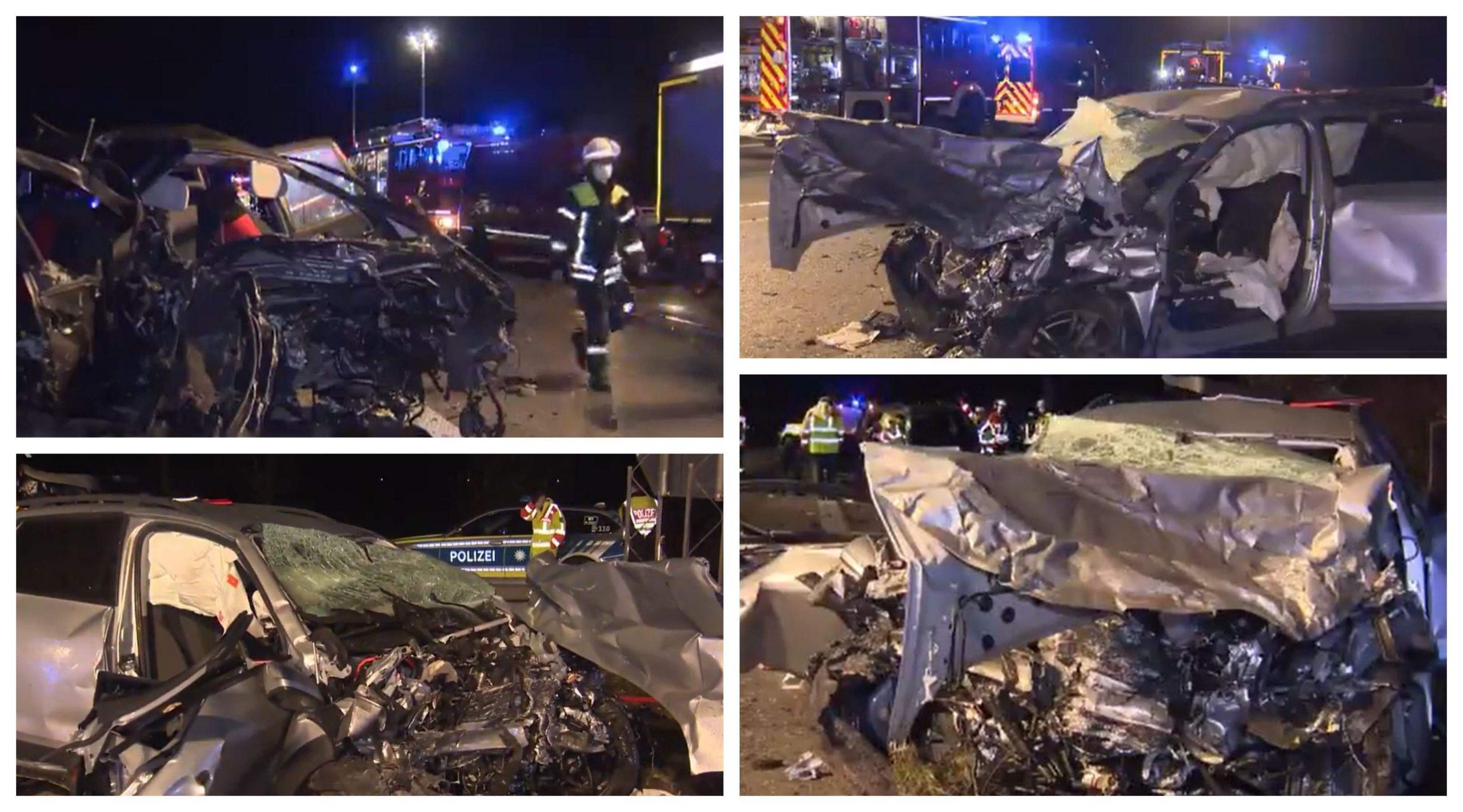 Patru morți, după ce un șofer român a intrat pe contrasens în Germania și s-a izbit de un Audi, pe banda din mijloc a unei autostrăzi