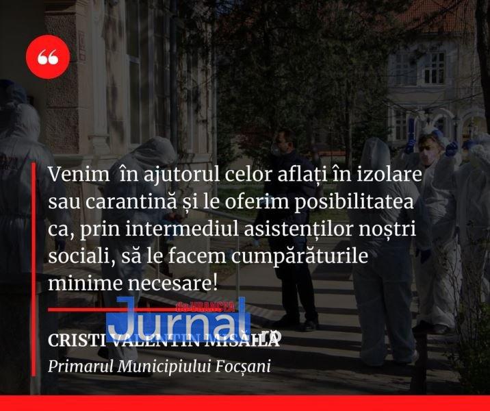 Locuiești în Focșani și ești în carantină sau izolare? Angajații Direcției de Asistență Socială pot face cumpărături pentru tine   Jurnal de Vrancea – Stiri din Vrancea si Focsani