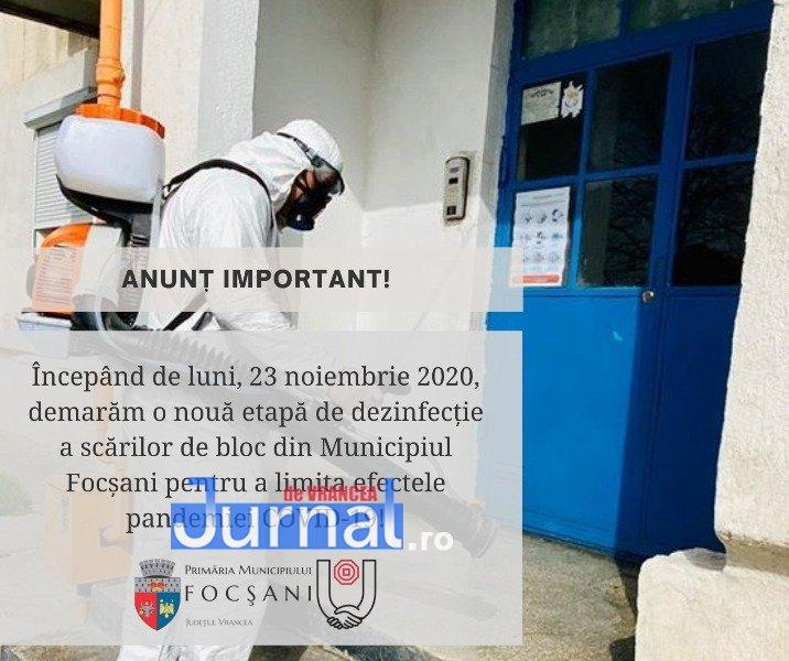 Primăria Focșani va demara mâine o nouă acțiune de dezinfecție a scărilor de bloc   Jurnal de Vrancea – Stiri din Vrancea si Focsani