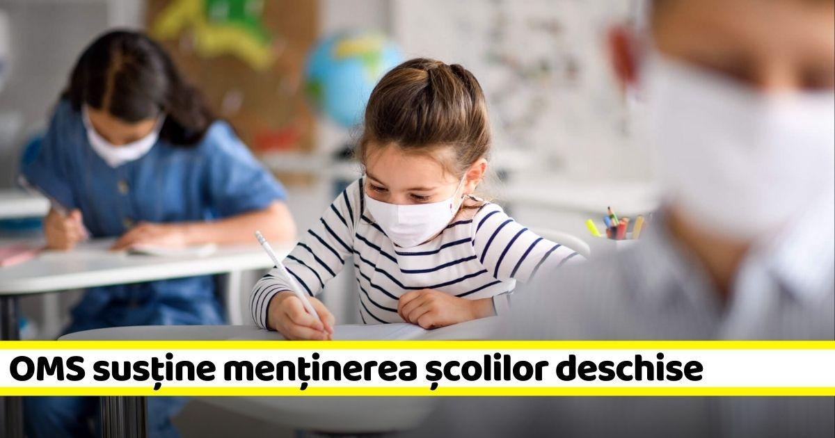 Organiația Mondială a Sănătății: LĂSAȚI ȘCOLILE DESCHISE! Educația trebuie asigurată!
