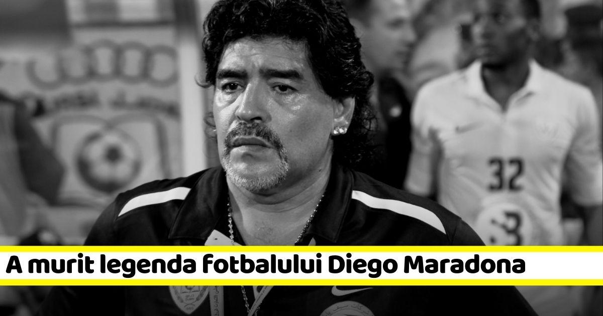 A murit legenda fotbalului Diego Armando Maradona