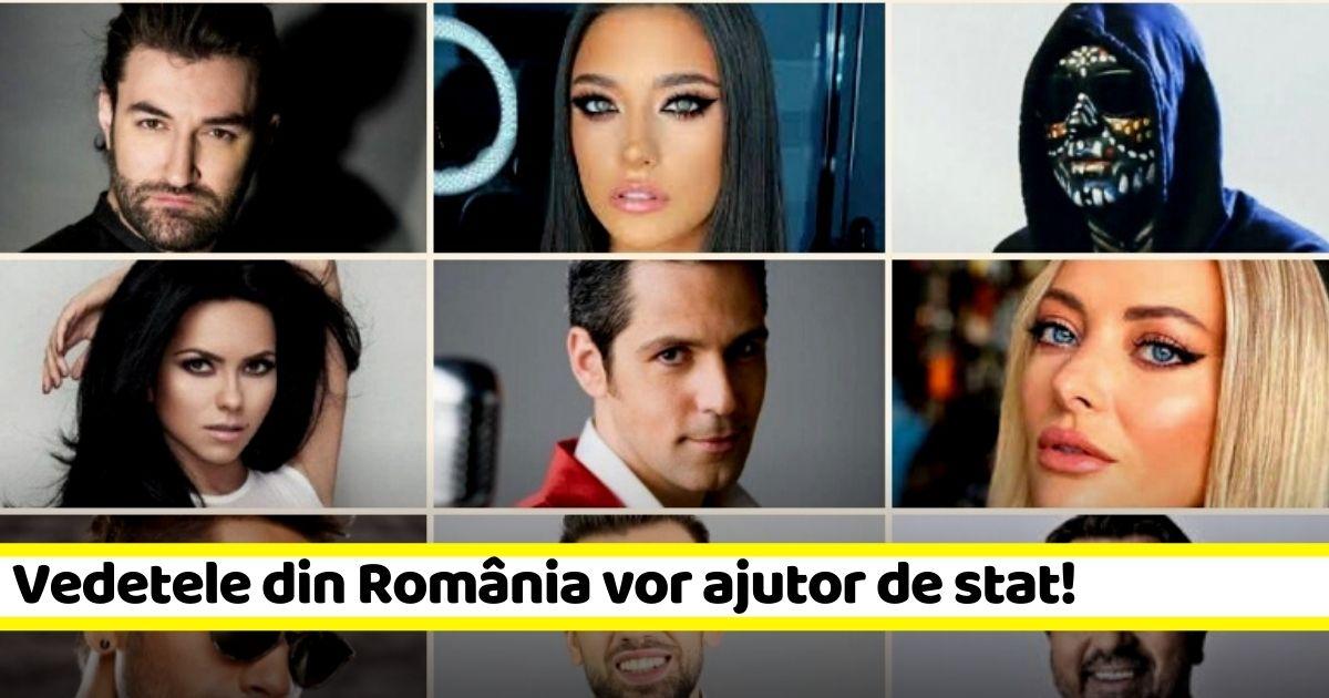 Cele mai cunoscute vedete din România vor ajutor de stat!