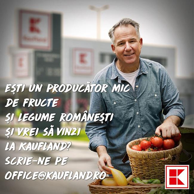 Kaufland România își oferă spațiul din magazine pentru a găzdui producătorii locali mici de legume fructe care întâmpină dificultăți în comercializarea mărfii în această perioadă