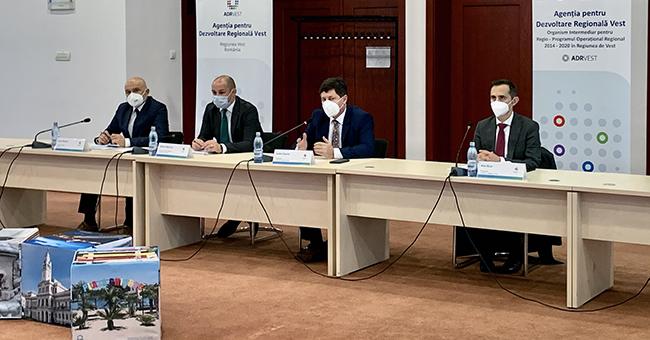 A fost constituit noul Consiliu pentru Dezvoltare Regională al Regiunii Vest, pentru perioada 2020-2024