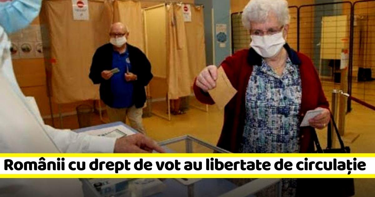 În ziua votului, NU va fi nevoie de declarație sau adeverință pentru deplasare