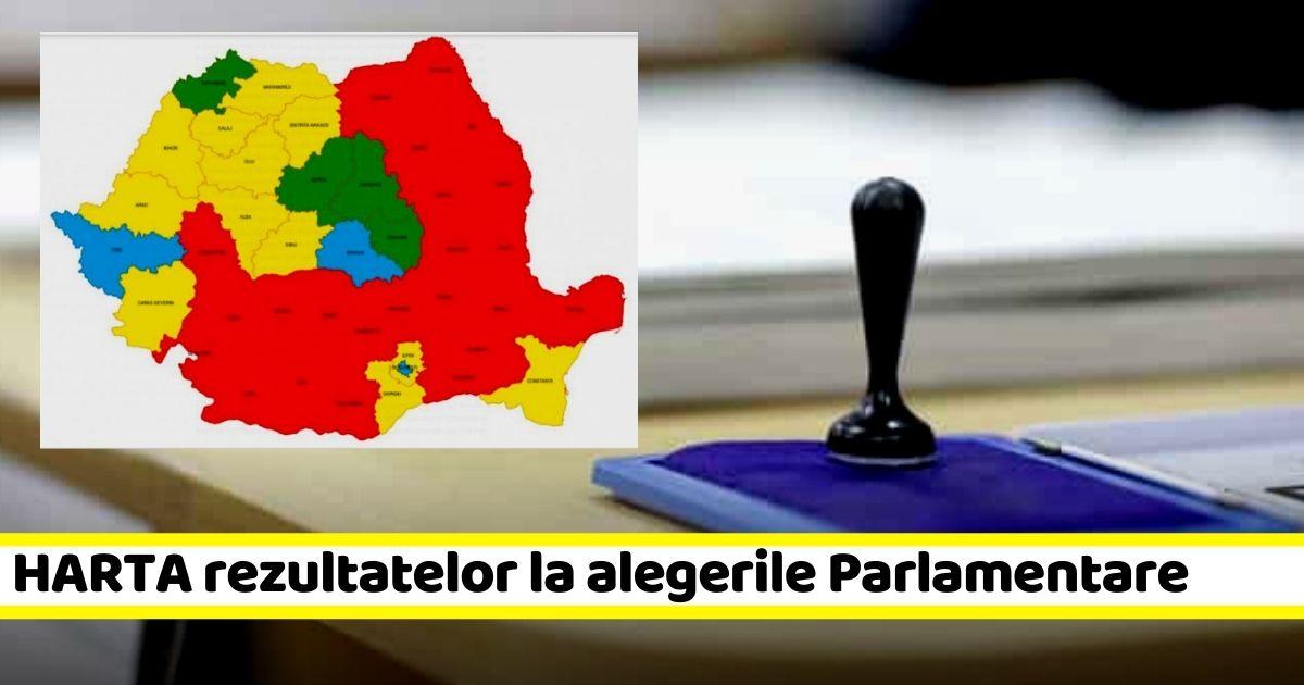 HARTA rezultatelor la alegerile Parlamentare 2020
