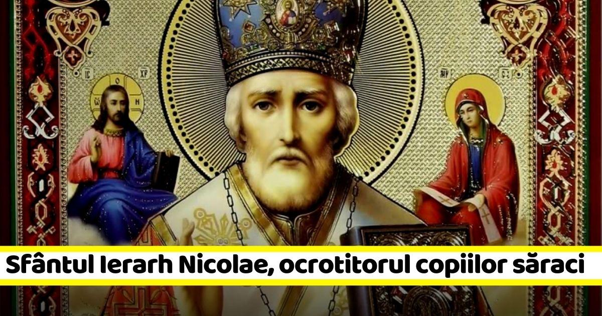 6 decembrie: Sfântul Ierarh Nicolae, ocrotitorul copiilor săraci