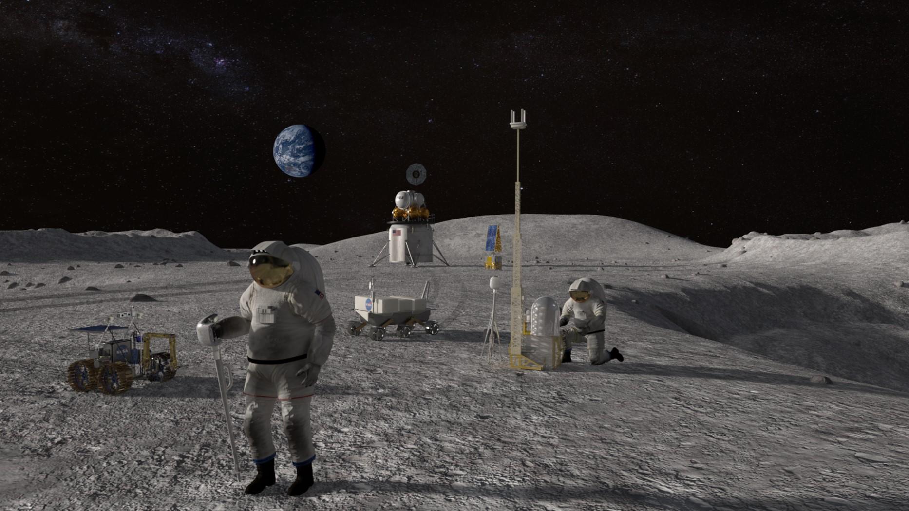 NASA a dezvăluit planul pentru bazele de pe Lună pe care vrea să le construiască în 2024