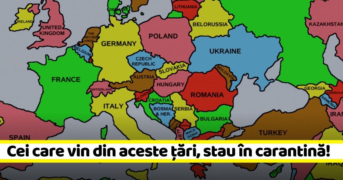 """Lista țărilor din """"zona galbenă"""". Carantină 14 zile dacă vii din aceste țări (10 decembrie)"""