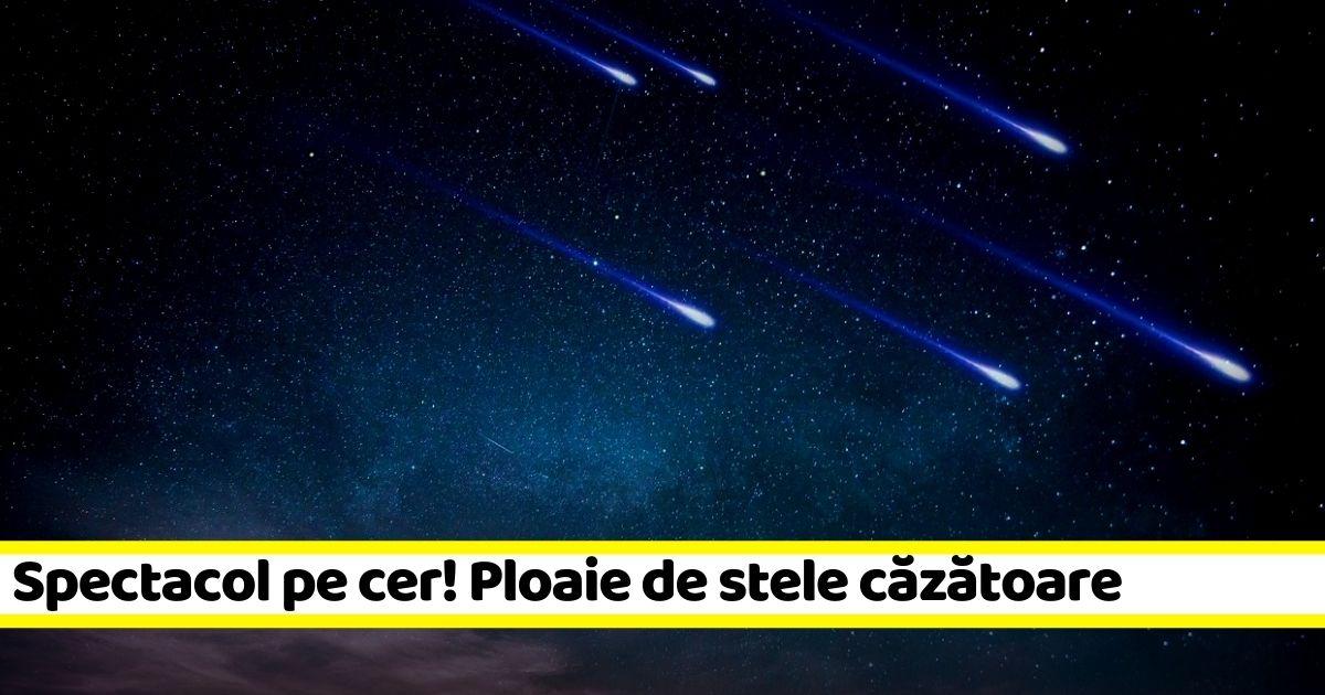 Spectacol pe cer la noapte! Ploaie de stele căzătoare (13-14 decembrie)
