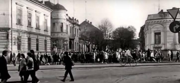 Noi nu uitam. Se aprindea scanteia Revolutiei de la Timisoara in 15 Decembrie 1989, in Piata Maria. Foto | OpiniaTimisoarei.ro