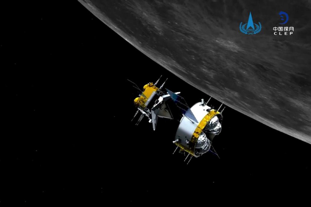 Capsula Chinei se întoarce spre pământ încărcată cu roci lunare