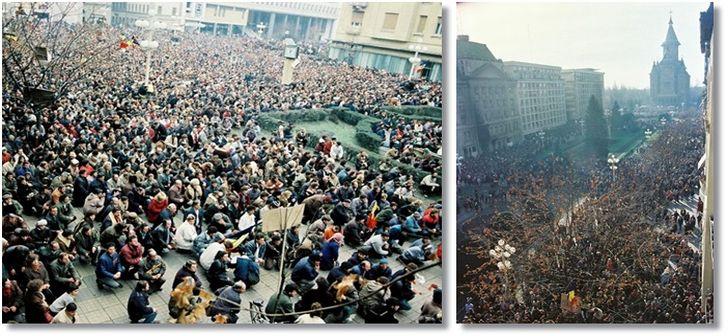 Timisoara devenea primul oras liber de comunism din Romania, pe 20 Decembrie 1989. Zeci de mii de muncitori ieseau din fabrici si umpleau Piata Operei | OpiniaTimisoarei.ro