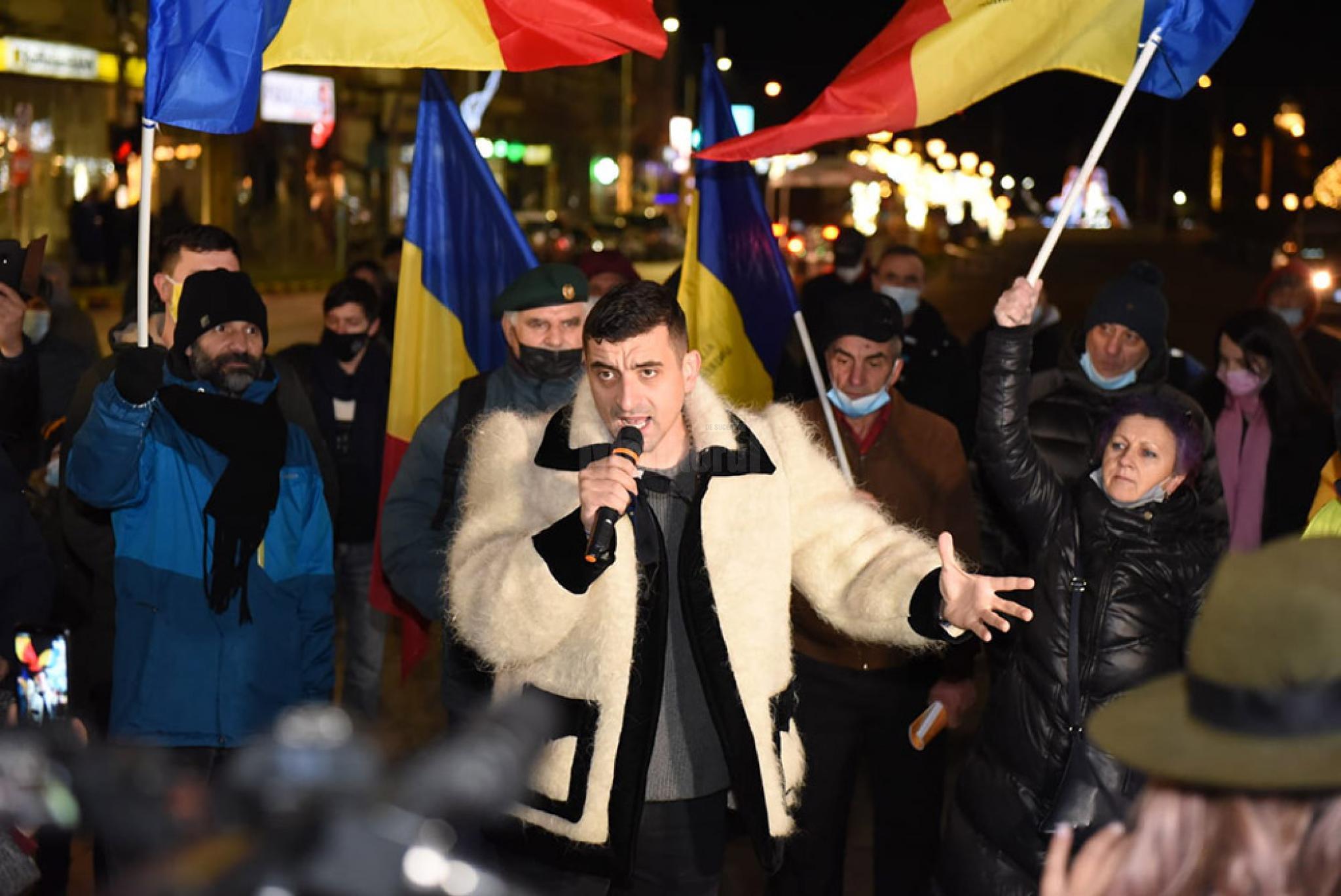 Ca un haiduc in suman co presedintele AUR George Simion si a electrizat simpatizantii din Suceava