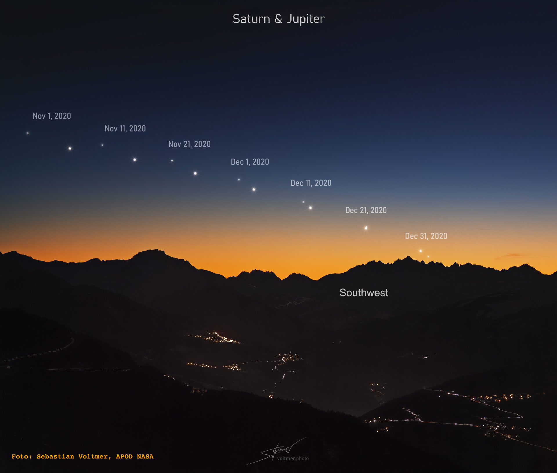 Marea conjuncție Jupiter-Saturn
