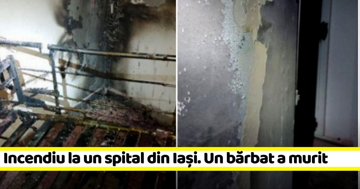 Incendiu la un spital din Iași. Un bărbat a murit