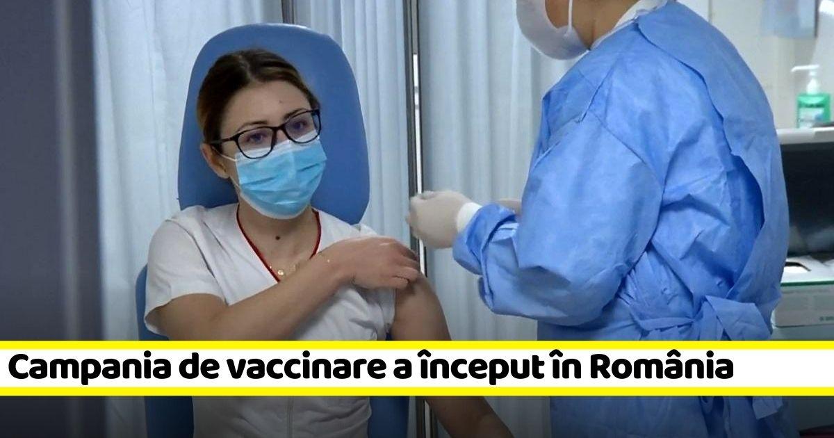 Campania de vaccinare anti-COVID a început în România (VIDEO)