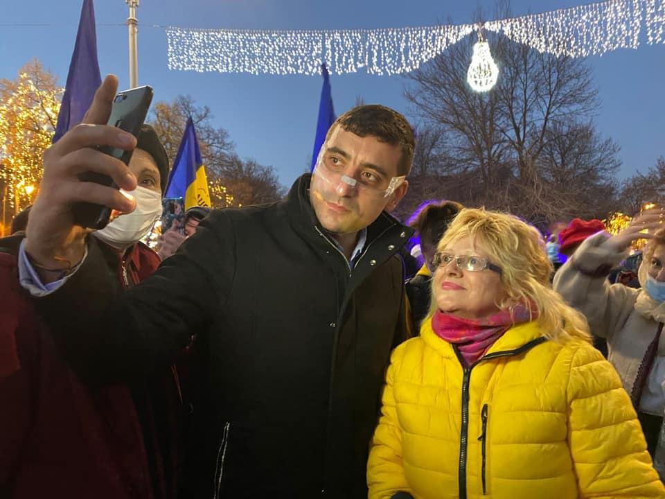 George Simion s-a văzut cu simpatizanții din București