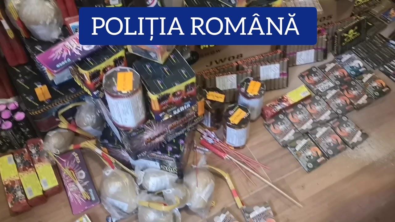 Gorj: Articole pirotehnice pentru focuri de artificii, confiscate în urma a trei percheziții