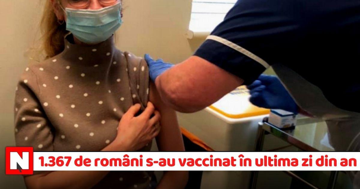 1.367 de români s-au vaccinat în ultima zi din 2020