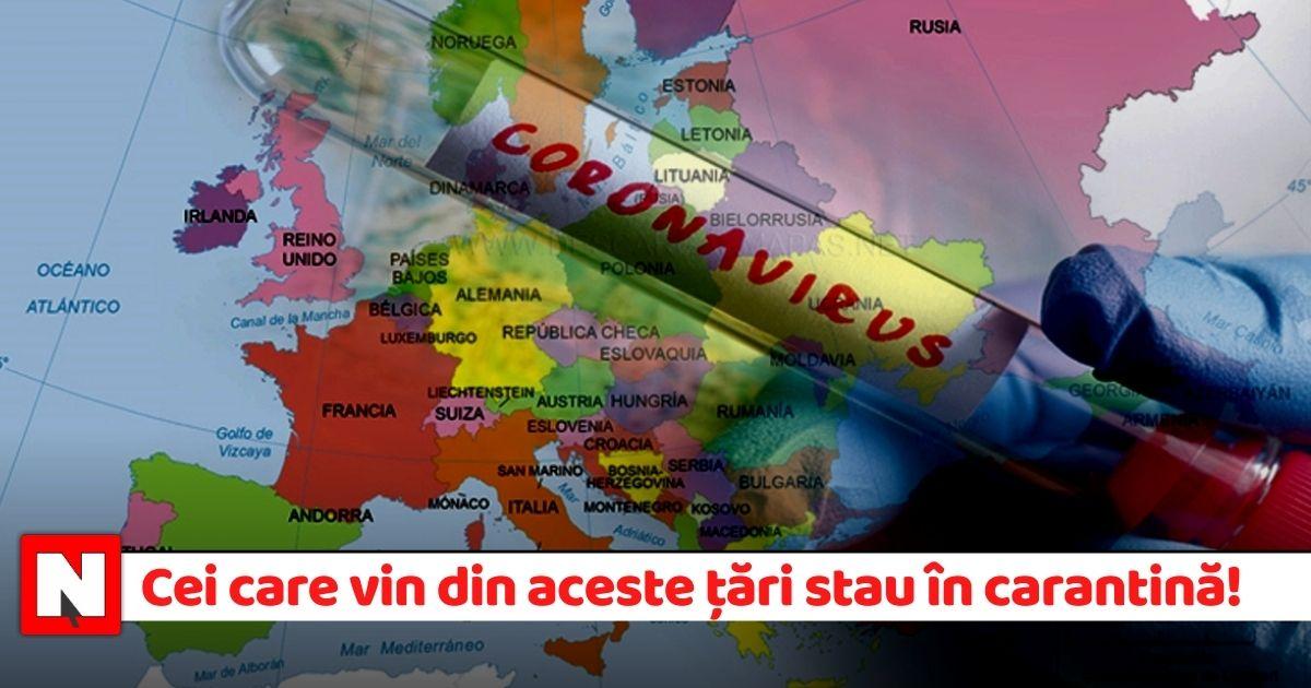 """Lista țărilor din """"zona galbenă"""". Carantină 14 zile dacă vii din aceste țări (3 ianuarie)"""