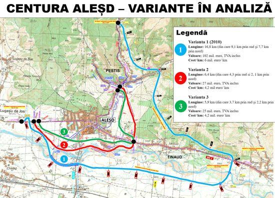Agenda Constructiilor – CJ Bihor analizeaza trei variante de traseu pentru constructia centurii Alesd