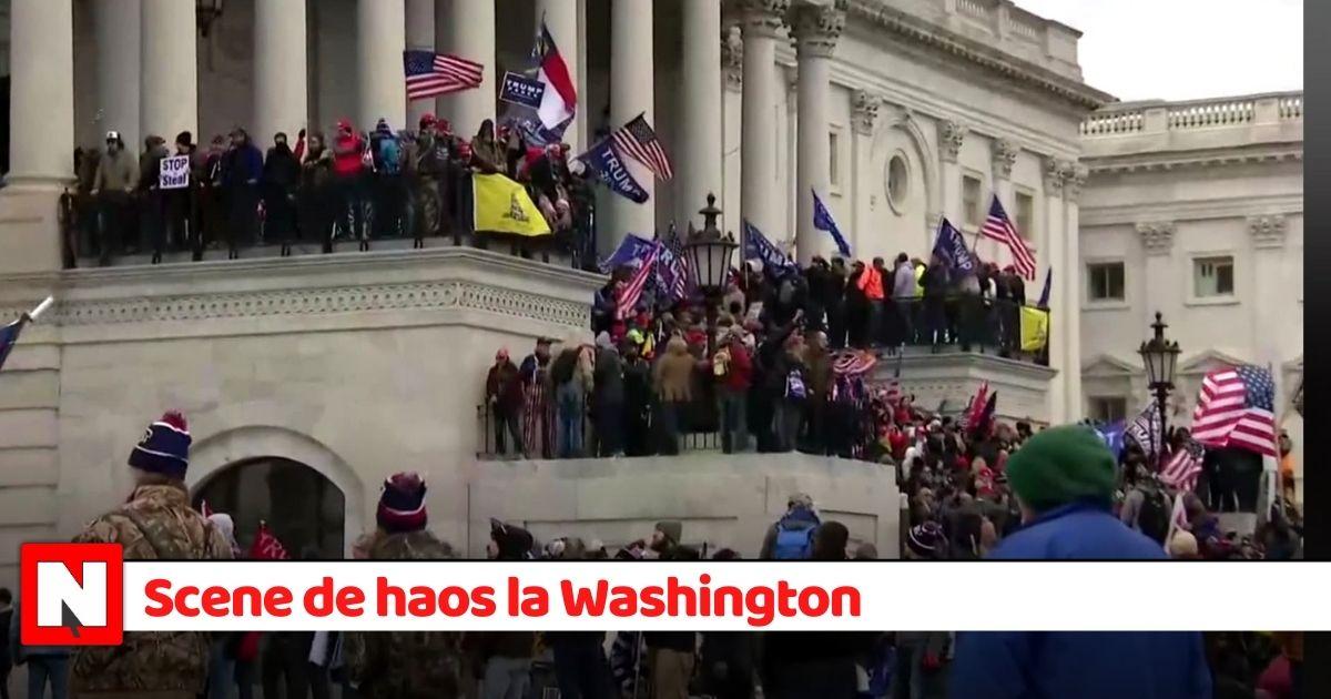 Teroare în SUA! Suporterii lui Trump au intrat în Capitoliu