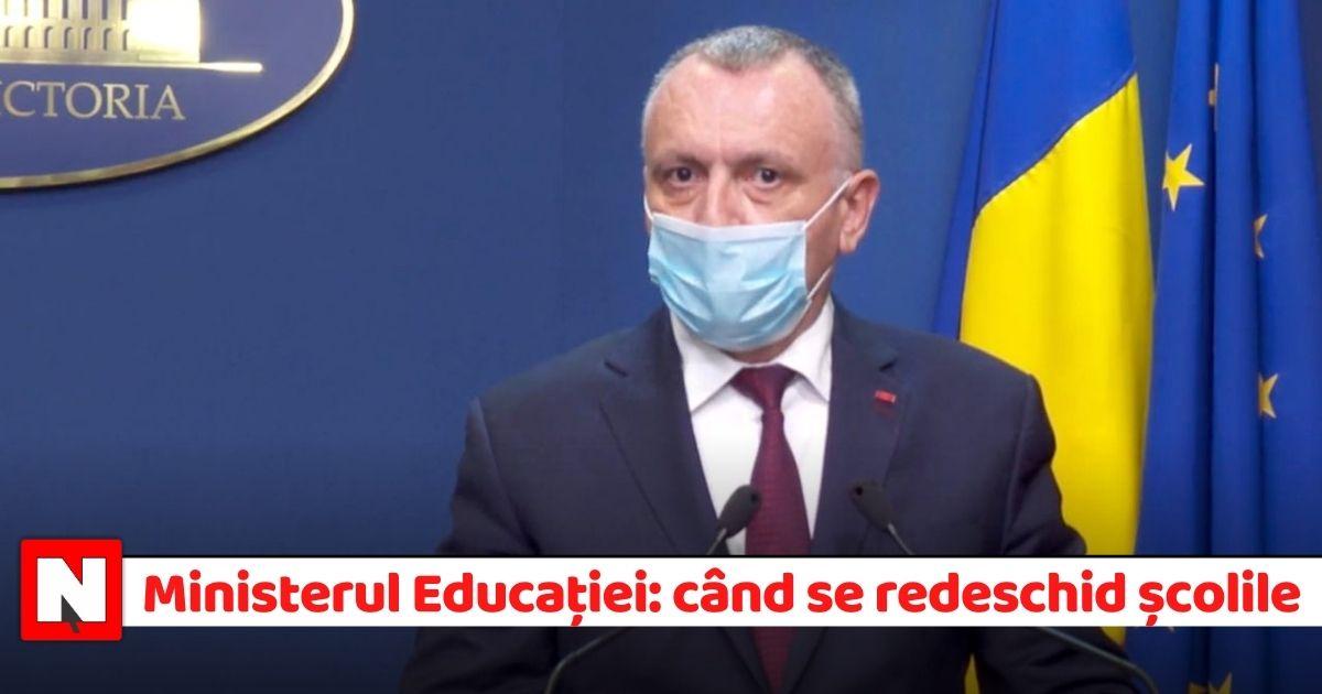Ministrul Educației, după discuții cu elevii, sindicatele și părinții: Când se redeschid școlile și noutățile din acest an