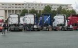 Zeci de TIR-uri, oprite în Piața Victoriei. Șoferii profesioniști sunt nemulțumiți de măsurile de carantină și de impozitul pe diurnă