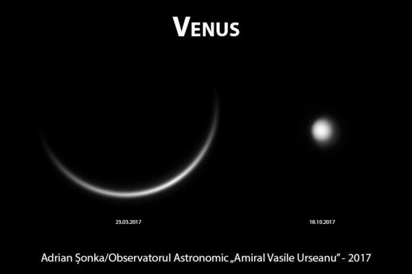 Pe cerul nopții în octombrie se poate vedea planeta Venus
