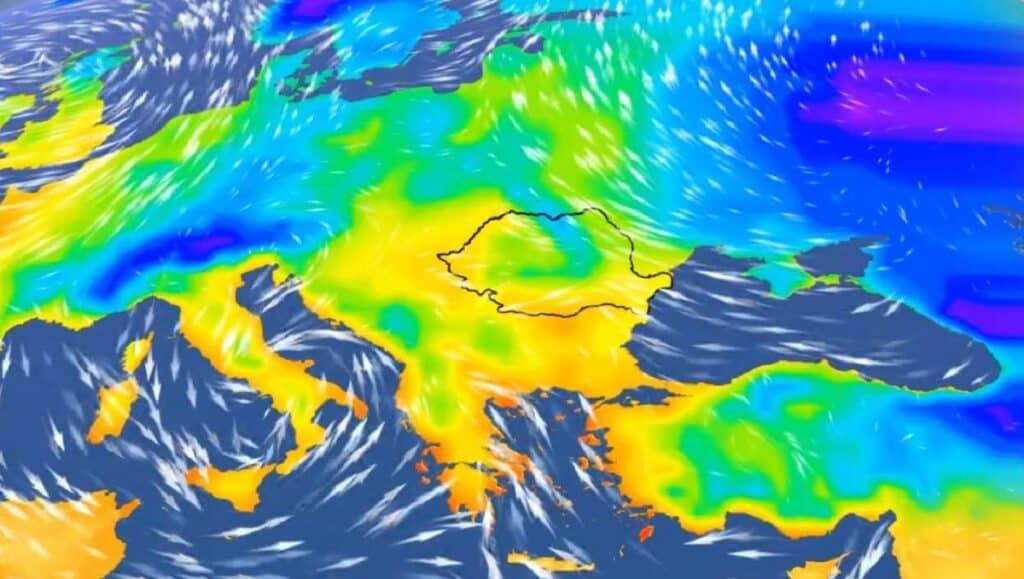 Vreme deosebit de rece și ploi în weekend în jumătatea de sud a țării